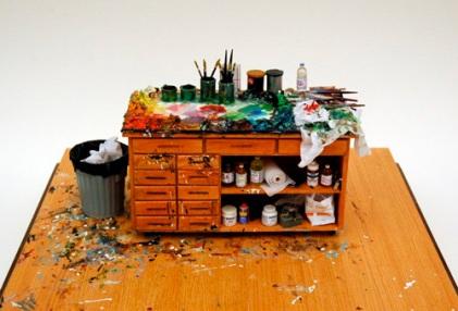 Miniature Art Studio, Eric Fischl, by Joe Fig